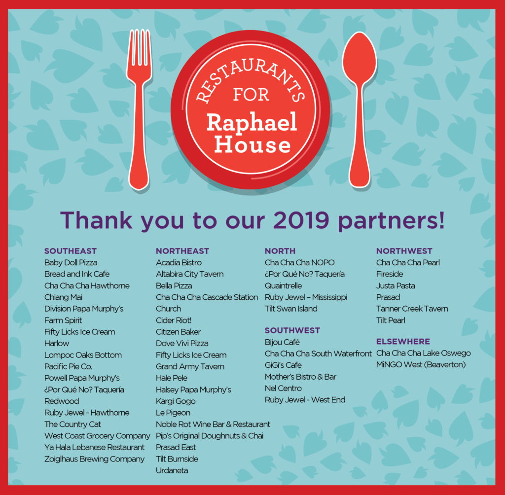 Thank you to our 2019 partners!